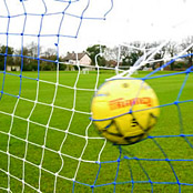 Striped Football Goal Nets