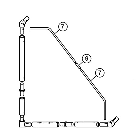 16 x 7 MATCH Goal Tension bar set