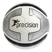 Precision Santos Training Ball - SIZE 3 & 5 White/ Silver/ Black