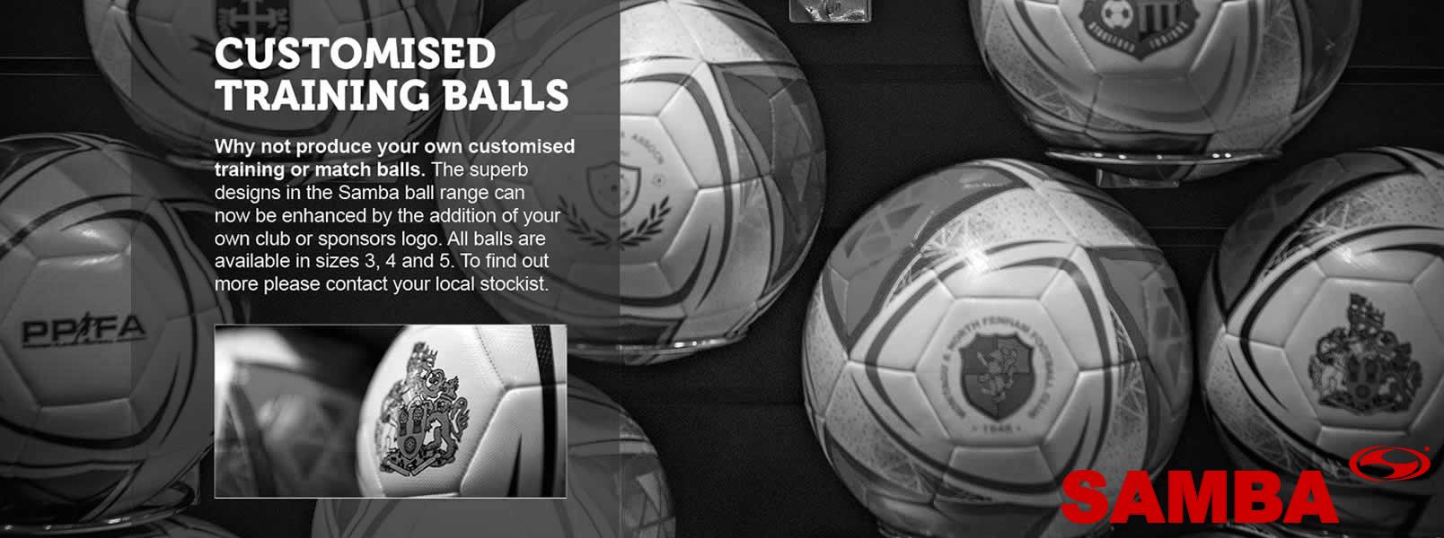 Samba customised training balls