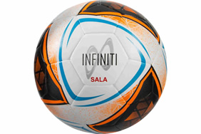 Infiniti Hybrid Futsal Ball White/Fluo Orange/Blue