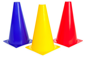 "9"" Traffic Cones - Set of 4"