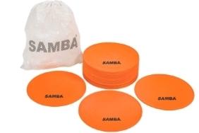 "Samba 8"" Large Round Rubber Flat Markers- Set of 20"