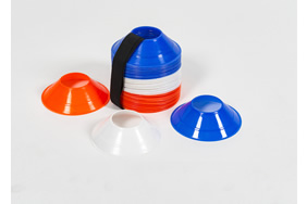 Mini Pro Cones with strap- Set of 60 mixed colours