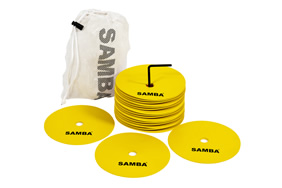 "Samba 8"" Medium Round Rubber Flat Markers - Set of 20"
