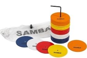 """Samba 4"""" Small Round Rubber Flat Markers - Set of 50"""