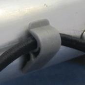 Net clip for 5 x 3 aluminium folding goal