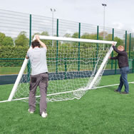Aluminium 16' x 7' 9v9 Socketed Goal with Quick Release Crossbar NO BACK SUPPORTS