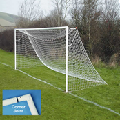 16' x 6' 60mm Steel Football Goals Socketed