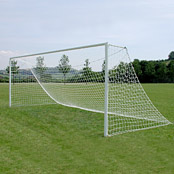 Junior Size 80mm & Elliptical Aluminium Football Goals Socketed