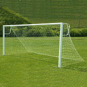 16ft x 6ft Aluminium Football Goals Socketed