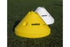 Set of 20 yellow and white jumbo marker cones available from Samba Sports