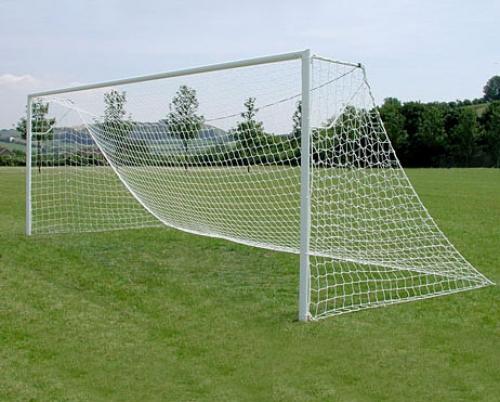 Junior Size 80mm & Elliptical Aluminium Football Goals Socketed