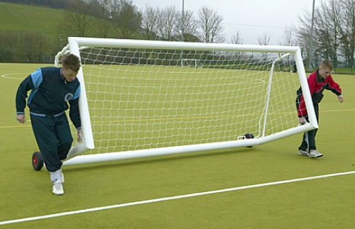 Self Weighted 12 x 4 & 16 x 4 Aluminium Five a Side Goal Package