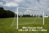 Steel socketed 12 x 6 7v7 mini soccer goal