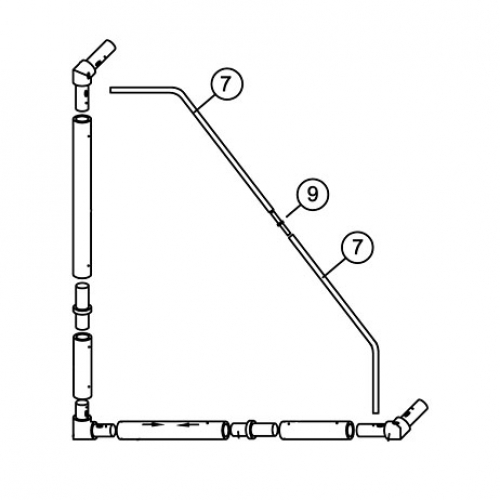 3m x 2m MATCH Goal Tension Bar set